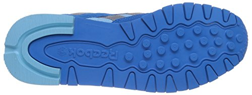 Reebok Classic Leather Suede Seasonal Ii, Chaussons Sneaker Femme Bleu (energy Blue/blue Pool/flat Grey/white)