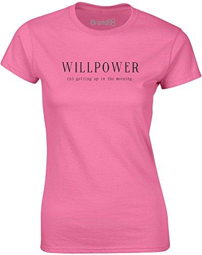 Brand88 - Willpower, Mesdames T-shirt imprimé Azalée/Noir