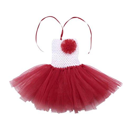 Jupe Ballet Tutu Tulle,OVERMAL Jupe Dentelle Dentelle Mini-jupe Haute Qualité Les Filles, Les Enfants En Tutu Floral Danse FêTe Chic Robe Arc - En - Ciel J
