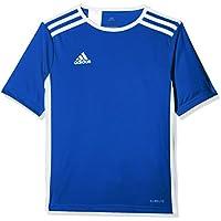 adidas Entrada 18 JSY Camiseta de Equipación, Niños, Azul (Bold Blue/Blanco, 116 (5/6 años)