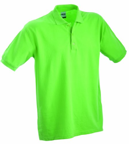 James & Nicholson Herren Classic Polo Poloshirt, grün Lime-Green), XX-Large -
