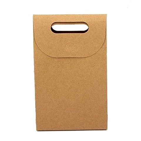 V-Dragon Gift Present Originality Kraft Paper Handle Box or Bag For Nuts Sugars Tea Leaves Hand Make Biscuits(10pcs)
