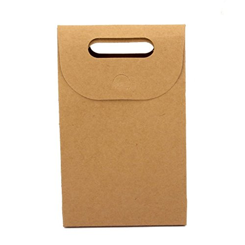 V-Dragon - Paquete de papel kraft con asa para tuercas, azúcares, hojas de té y galletas caseras (10 unidades)