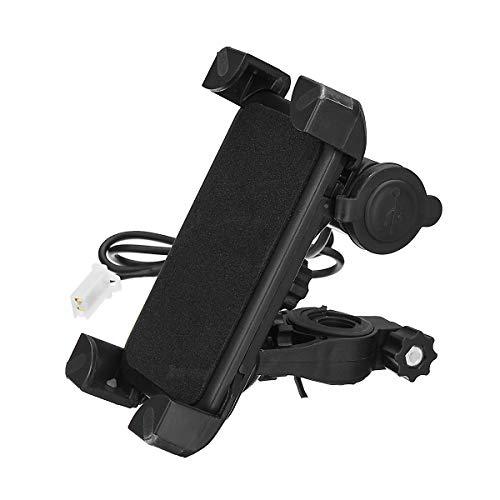 JenNiFer 3.5-6.0 Pouces Moto Guidon Étanche Support De Téléphone GPS Chargeur USB
