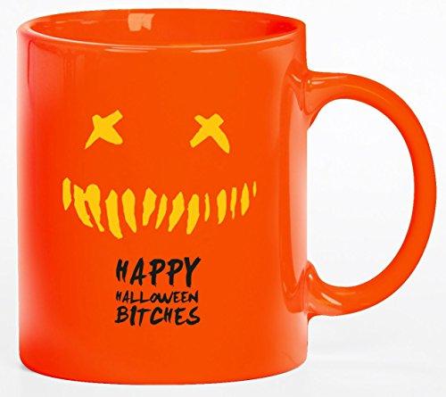 tüm Kaffeetasse Kaffeebecher mit Halloween - Happy Halloween Motiv, Größe: onesize,orange (Tasse Kaffee Halloween Kostüme)
