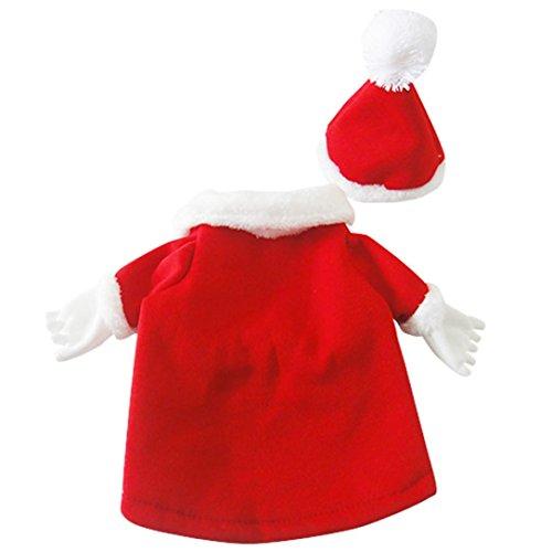 Ninasill ღ ღ Puppy Kleidung Weihnachten Neues Jahr Dekoration Hund Spring Winter Kleidung Casual Medium Rot