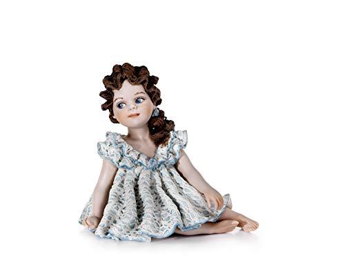 Estatua de Porcelana Grace - Muñeca de Porcelana Elegante decoración Artesanal, fabricación clásica artística Vicentina - Made in Italy