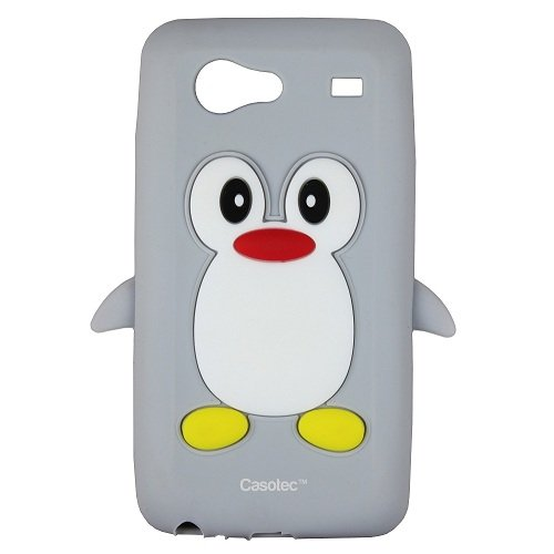 Casotec Penguin Silicone Jelly Back Case Cover for Samsung Galaxy S Advance i9070 - Grey  available at amazon for Rs.125