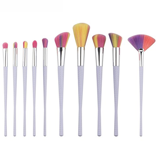 Reasoncool 10x spazzole di trucco Powder Foundation ombretto Eyeliner Lip Brush Strumenti