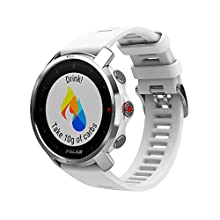 Polar Unisex's Grit X - Rugged Outdoor Watch with GPS, Compass, Altimeter and Military-Level Durability, White, Small/Medium