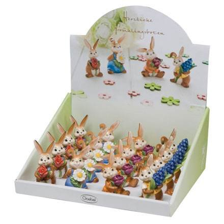 Preisvergleich Produktbild Goebel Ostern Osterhasen Minihasen im Display 66844901