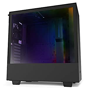 NZXT H510i - Compact ATX Mid-Tower PC Gaming Case - Front I/O USB Type-C Port - Vertical GPU Mount - Tempered Glass Side Panel - Integrated RGB Lighting - Water-Cooling Ready - Black