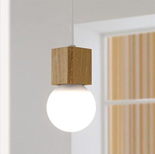 Nordeuropa Massivholz Wohnzimmer Schlafzimmer der Kronleuchter moderne Küche Bar Restaurant Bibliothek Kinder Zimmer LED Deckenleuchte 1 Scheinwerfer (mit weißer LED)