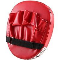 DoMoment Almohadillas Flexibles para el puño de la Mano Sanda Taekwondo Entrenamiento de pie Muay Thai MMA Boxeo Objetivo de la Mano de Karate Kung fu Pad, Rojo