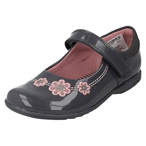 Clarks TrixiWhizz Pre ragazze scarpe Casual in antracite Anthracite 11œ G