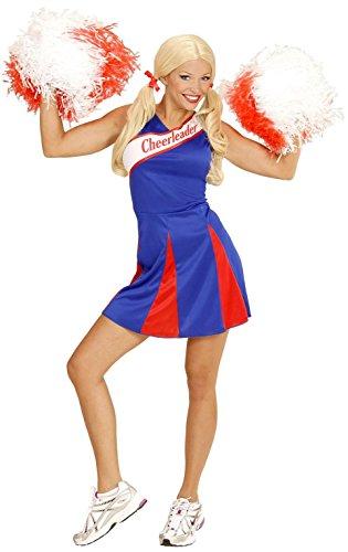 Widmann 03083 - Costume da Cheerleader, Versione Blu/Rosso, in Taglia L