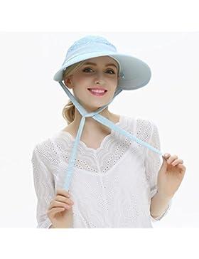 HONEY Visera Cap Lady Straw Hat Sombrero De Sol Gorra Extraíble Superior  Beach Travel UV Protection UPF50 (...