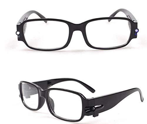 57cb95012b UGI Paquete de 3 Gafas de Lectura con Lente de Luz Nocturna LED Lentes de  visión