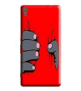 HiFi Designer Phone Back Case Cover Sony Xperia XA Ultra :: Xperia XA Ultra Dual F3212 F3216 ( Red Hand Be Strong )