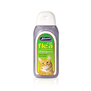 Johnsons Cat Flea Cleansing Shampoo 125ml 200g - Bulk Deal of 6x