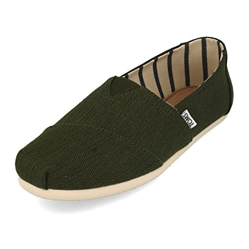 Toms Men's Classic Heritage Canvas Pine Ankle-High Slip-On Shoes - 9.5M