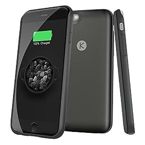 2400mAh Ultra-Slim externe coque Battery Case pour Apple iPhone 6 (4.7 pouces), Termichy Coque de protection avec batterie intégrée pour iPhone6 - emballage de detail (Gris sidéral)