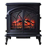 Amberglo Large Double Door Electric Stove in Black