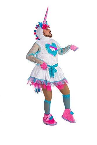 Generique - Witziges Einhorn-Kostüm Einheitsgröße (Karneval Starker Mann Kostüm)