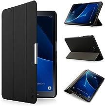 iHarbort Samsung Galaxy Tab A 10.1 Funda ultra delgado ligero Funda de piel de cuerpo entero para Samsung Galaxy Tab A 10.1 pulgada (2016 Version T580N T585N) con la función del sueño despierta negro