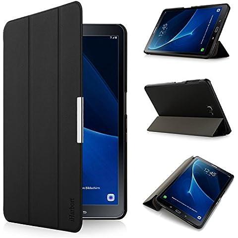 iHarbort® Samsung Galaxy Tab A 10.1 Funda - ultra delgado ligero Funda de piel de cuerpo entero para Samsung Galaxy Tab A 10.1 pulgada (2016 Version SM-T580N SM-T585N) con la función del sueño / despierta (Galaxy Tab A 10.1,