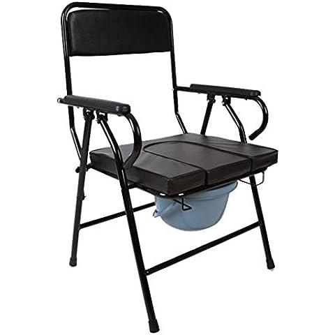 Cómoda mesilla plegable para el ancianos embarazadas mujeres portátil WC asiento móvil aseo cabecera comoda acero de tubos 3 en 1 acero inodoro acero gota-brazo comoda comoda silla de ducha