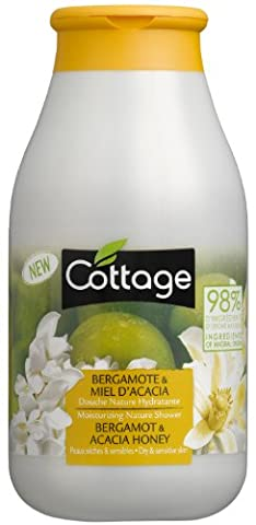 Cottage Moisturizing Nature Shower Bergamot and Acacia Honey with 98 Percent Ingredients of Natural Origin - Pack of