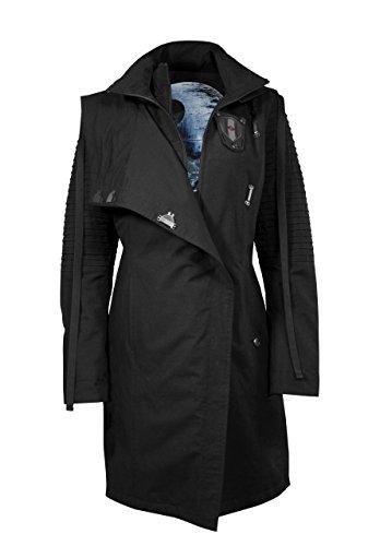 Musterbrand Star Wars Mantel Damen Sith Lady Limited Edition Jacke schwarz 36 (S) (Kylo Ren Kostüm Details)