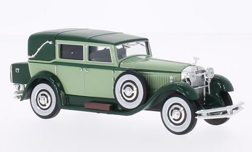 isotta-fraschini-tipo-8-light-green-dark-green-1930-model-car-ready-made-whitebox-143-by-isotta-fras