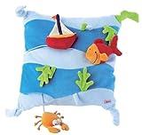 sigikid 49089 – Cojín para bebés con juegos (33 x 33 cm), diseño del mar [importado de Alemania]