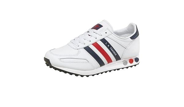 Empotrar dieta Manifestación  adidas Mens Originals LA Trainers White/Navy/Red Guys Gents (7 UK 7 EUR  40.7): Amazon.co.uk: Shoes & Bags