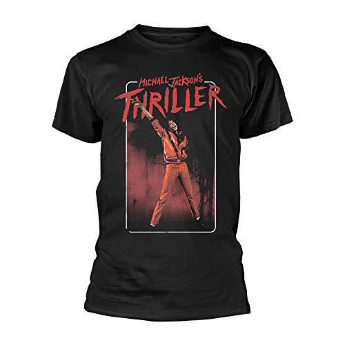 Michael Jackson Thriller Dance Pose Offiziell Männer T-Shirt Herren (Medium) -