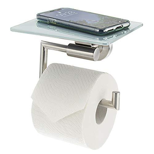 bremermann Toilettenpapierhalter mit Ablage, weiß