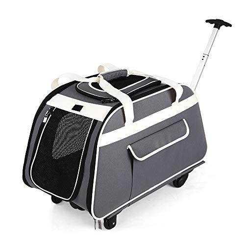 Jian E& Pet Bag - Pet Trolley Multi-Funktions-Atmungsaktiv Haustier Trolley Dog Out Tragbare Tasche Dog Bag Autokäfig Hund Rucksack Cat Bag Pet Bag
