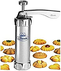 CPEX Stainless Steel Sugar Craft Fondant Cake Cookie Press Kits Biscuit Maker with 20 Discs (Silver)