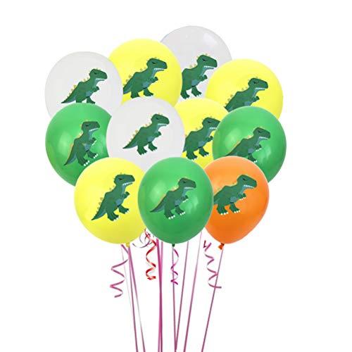 BESTOYARD 36 unids Globos de Látex Globos Redondos Coloridos Globos de Dinosaurio Globos de Helio para Baby Shower Fiesta de Cumpleaños para Niños Suministros Decoraciones de Foto apoyos 12 Pulgadas