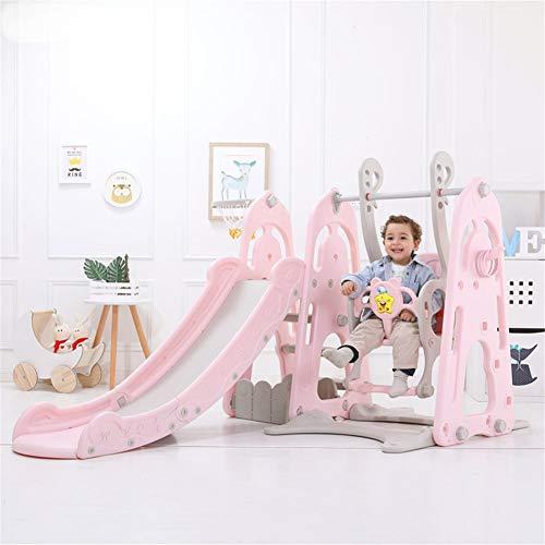 Mr. Fragile Schaukel Rutsche für Kinder Rutschen mit Induktiver Musik Home Multifunktions Kinderrutsch Schaukel Kombination Babyspielplatz für Kindergarten 170 * 194 * 96cm 170 * 120 * 120cm