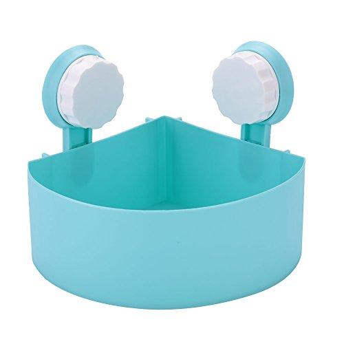 TOPmountain Badezimmer-Speicher-Halter-Regal 1 Stück Duschwerkzeug Organizer Rack Korb Badezimmer-Küche-Speicher-Eckzahnstange Saugnapf Organizer Duschregal Blau (1-speicher-korb)