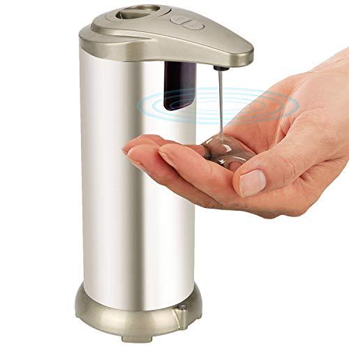 HENGQIANG Dispensador automático de jabón de acero inoxidable resistente a huellas dactilares, dispensador de manos libres para baño, cocina, baño, dispensador de jabón automático (Flüssige Version)