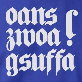 TEXLAB - Oans Zwoa Gsuffa - Damen T-Shirt Schwarz