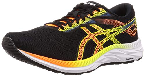 ASICS Gel-Excite 6, Scarpe da Running Uomo, Nero (Black/Shocking Orange 006), 43.5 EU