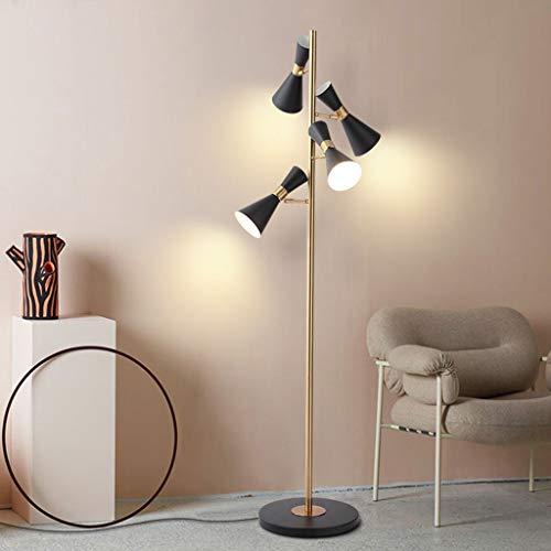 Lampadaires- Lampadaire multi-source en corne La lampe de table verticale pour la cuisson au four à haute température Nordic creative crée: hauteur de la lampe: 167 cm, base de 35 * 3 cm, abat-jour de