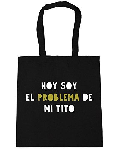 HippoWarehouse Hoy Soy el Problema de mi Tito Bolso de Playa Bolsa Compra Con Asas para gimnasio 42cm x 38cm 10 litros capacidad