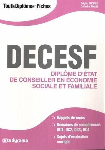 Diplôme d'Etat de conseiller en économie sociale et familiale par Brigitte Anciaux