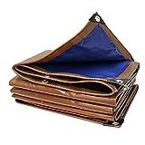 Jieqiong Couverture imperméable de bâche, Bâche Ignifuge extérieure imperméable de Toile de Protection Solaire de crêpe de Tissu de bâche Ignifuge extérieure,2x4m